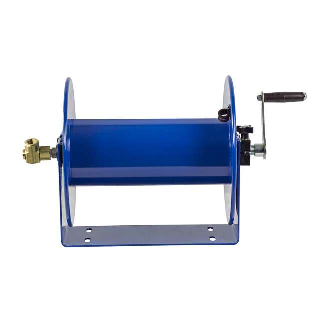 117-5-100 Coxreels 100 Series Compact Hand Crank Water and Air Hose Reel, Blue 4