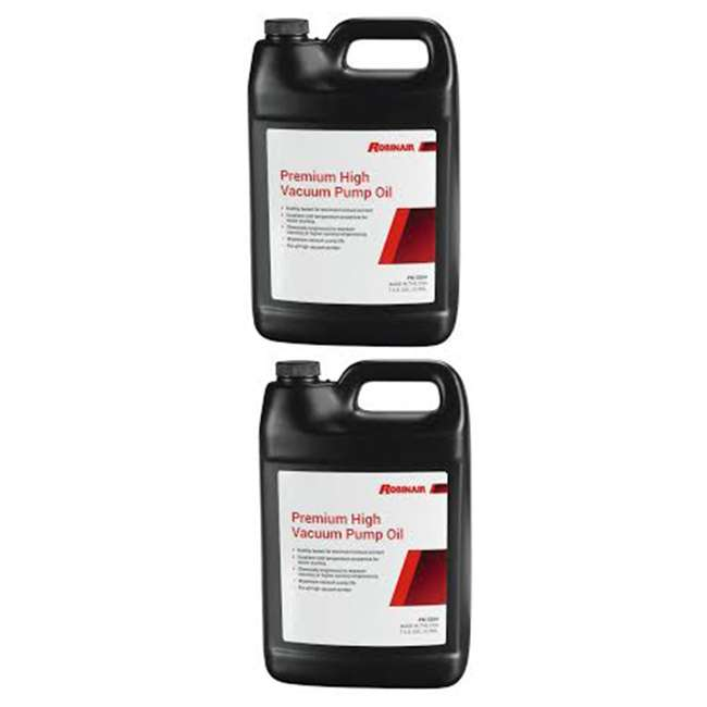 ROB-13204-1PK Robinair 13204 Premium Thermally Stable High Vacuum Pump Oil, 1 Gallon (2 Pack)