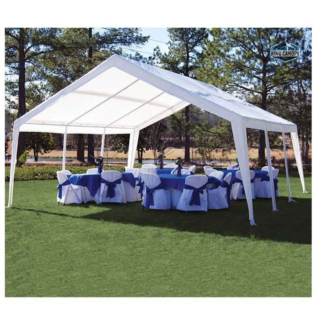 EX1220 King Canopy 12 x 20, 20 x 20 Foot Universal Canopy White 6