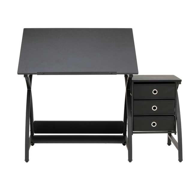 STDN-38015 Studio Designs Venus 2-Piece Craft Adjustable Tabletop w/ Storage & Stool, Black 4