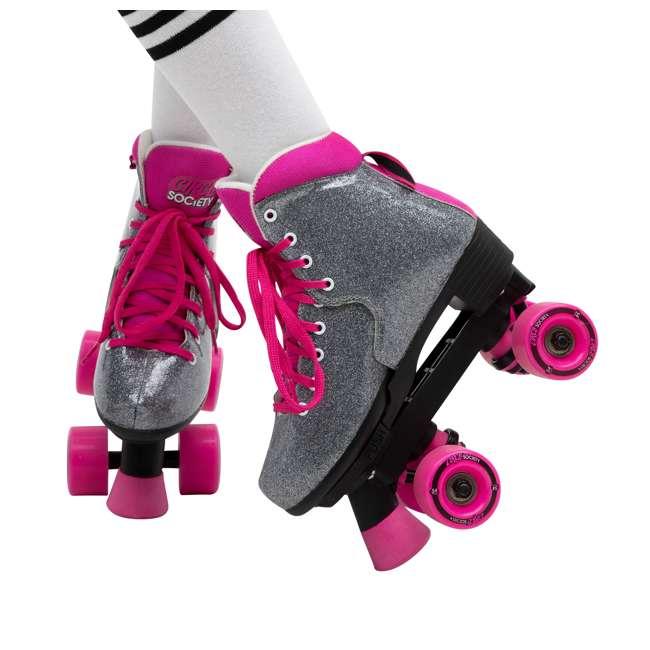 168222 Circle Society Bling Sizzling Pink Kids Skates, Sizes 3 to 7 6