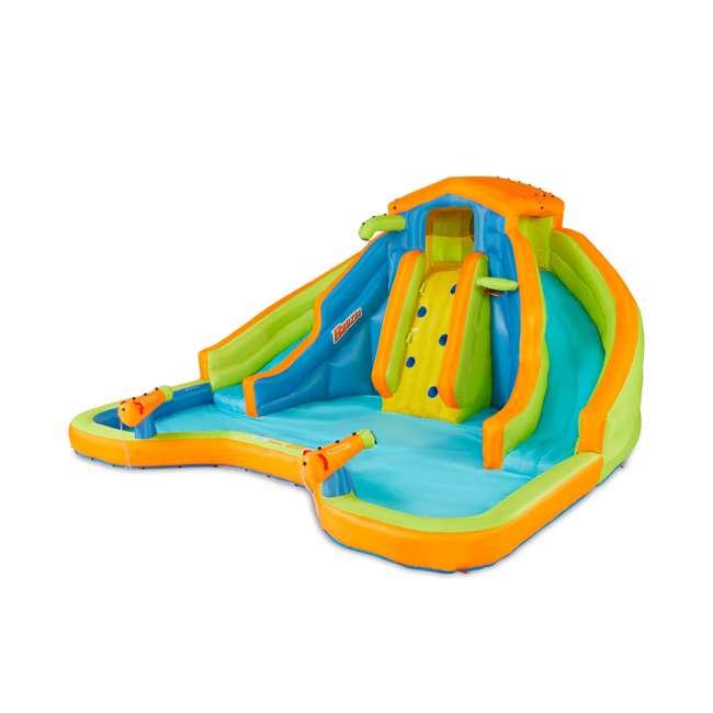 BAN-90369 Banzai 90369 Adventure Club Water Park Inflatable 2 Lane Water Slide Splash Pool