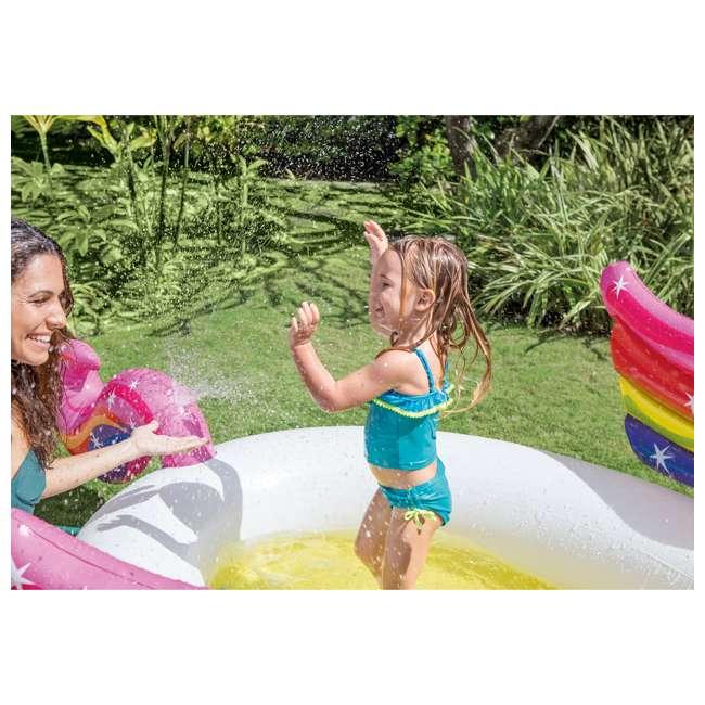 "57441EP Intex 57441EP 107 x 76 x 41"" Inflatable Rainbow Mystic Unicorn Spray Kiddie Pool 2"