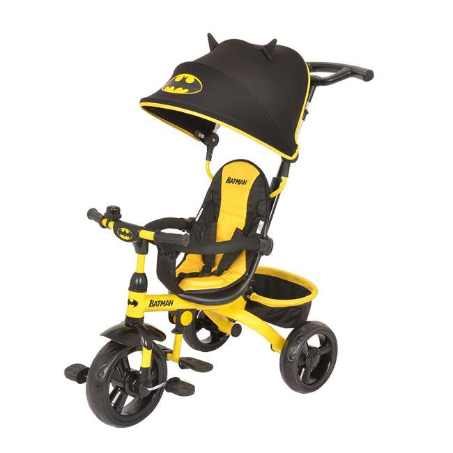 KE-7501BAT Kids Embrace 4 in 1 Push & Pedal Convertible 3 Wheel Batman Trike & Stroller