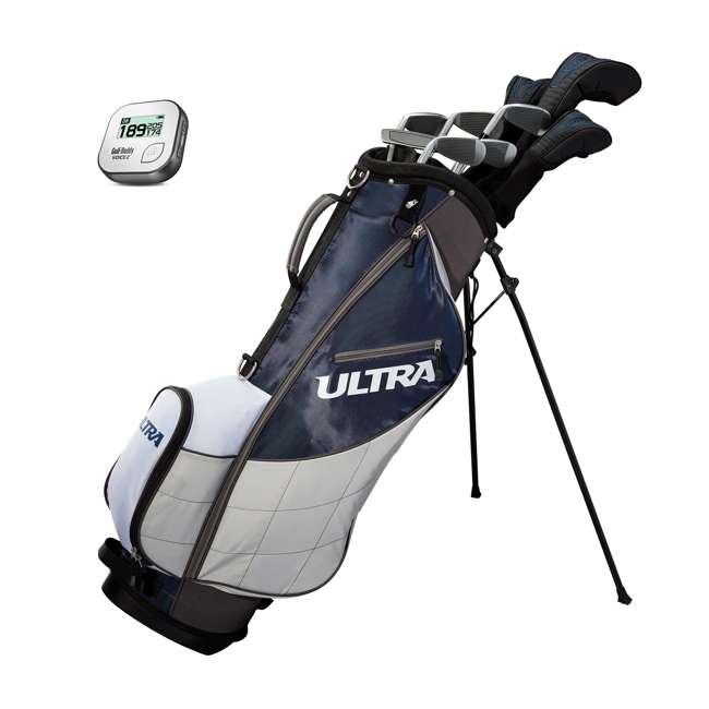 WGGC43600 + GB7-VOICE2-GREY Wilson Ultra Men's Right-Handed Complete Golf Club Set & Rangefinder 11