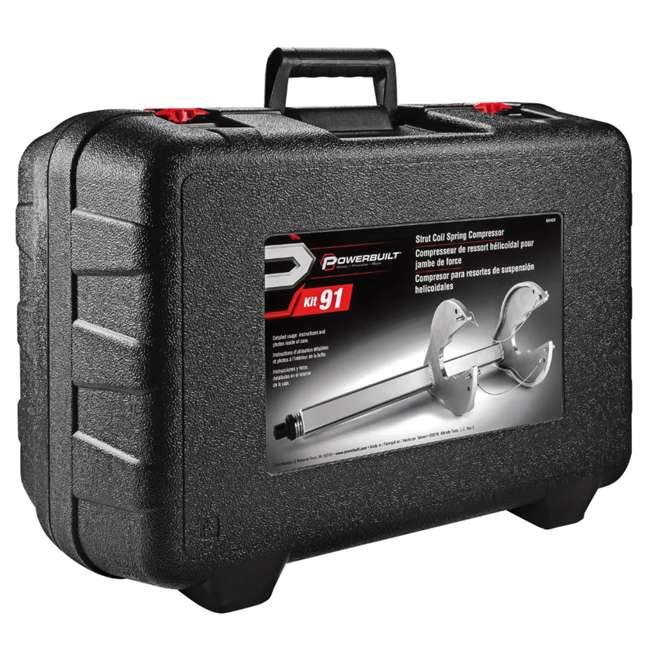 641429 Powerbuilt 641429 Automotive Vehicle Strut Coil C Spring Compressor Tool, Silver 4