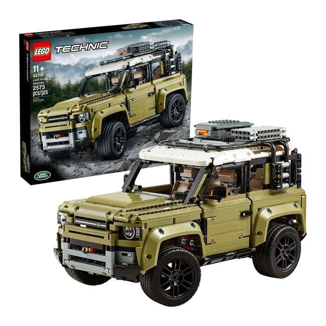 6283904 LEGO Technic 42110 Land Rover Defender 2573 Piece Block Building Kit Olive Green 3