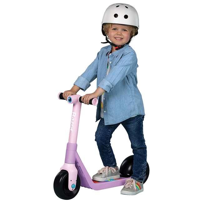 13059664 Razor Wild Ones Kids Junior Kick Scooter with Extra-Wide Deck & Wheels, Unicorn 1