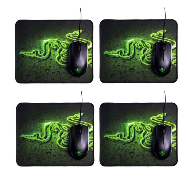 4 x RZ83-02020200-B3U1 Razer Abyssus 2000 DPI Mouse and Goliathus High Texture Mouse Pad (4 Pack)