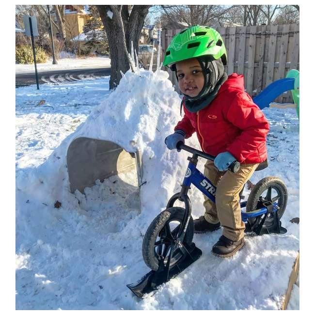 ST-S4RD + PSKISET-12-BK Strider 12 Sport Balance Kids Learning Bike, Red + Strider 12 Inch Bike Snow Ski Set  4