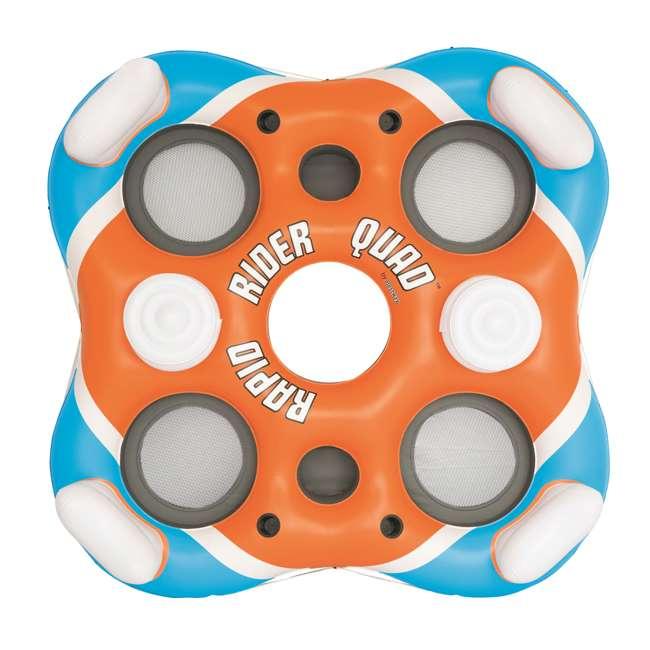 6 x 43115E-BW-U-B Bestway Rapid Rider 4-Person Floating Island Raft w/ Coolers (Used) (6 Pack) 1