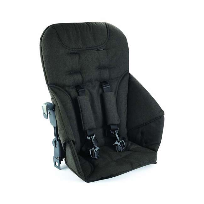 8207 + 9107 Joovy Caboose S Stroller with Canopy, Black Melange + Caboose Add On Rear Seat 7