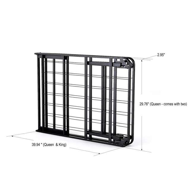 VMI-QIB2-112 + VMI-FIB2-112 intelliBASE Lightweight Platform Bed Frame, Queen with Full Frame 3
