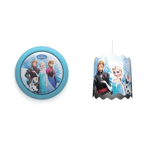 PLC-7192408U0 + PLC-7175101U0 Philips Disney Frozen Push Touch Night Light w/ Philips Disney Frozen Lampshade