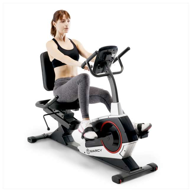 ME-706-U-C Marcy Regenerating Magnetic Recumbent Home Workout Exercise Bike (For Parts) 2