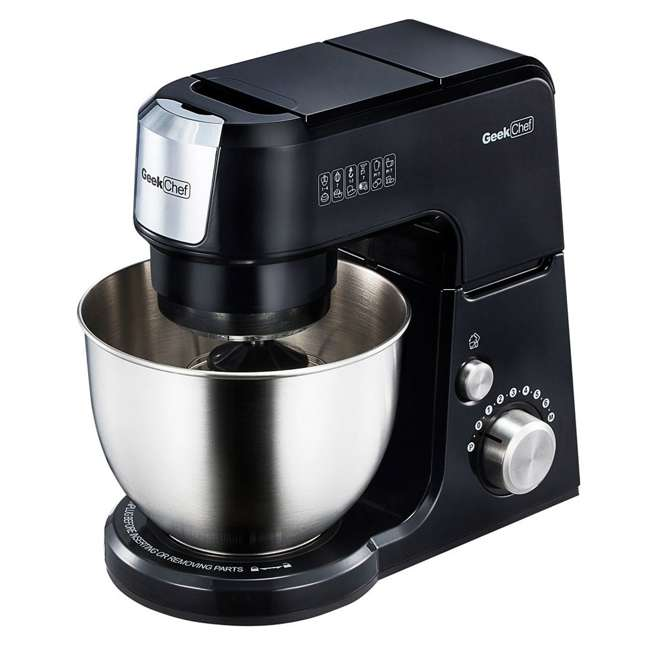 GM25B + GMFP Geek Chef GM25R 2.6 Quart 7 Speed Tilt Head Stand Mixer & Food Processor Chopper 1