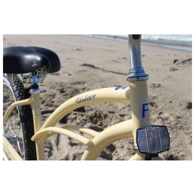 "15007 Firmstrong Urban Lady Women's 24"" Beach Cruiser Bike, White 2"