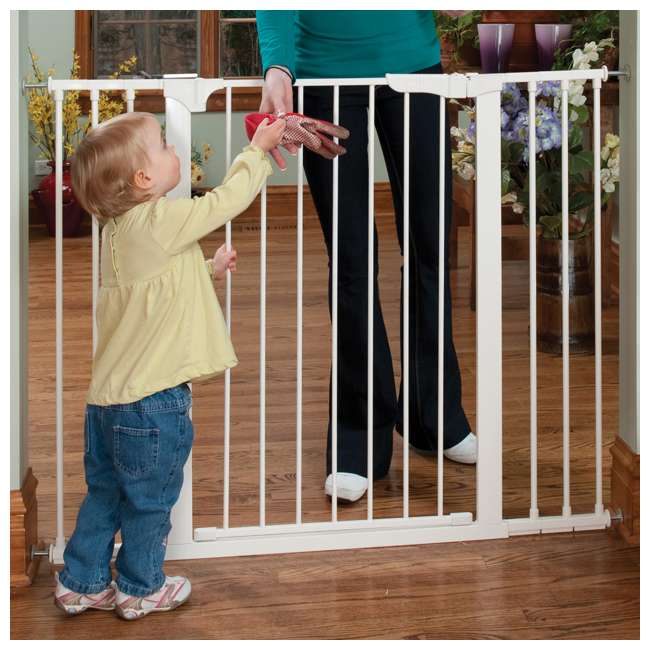 G1200 KidCo Extra Tall & Wide Auto Close Gateway Gate, White (2 Pack) 3