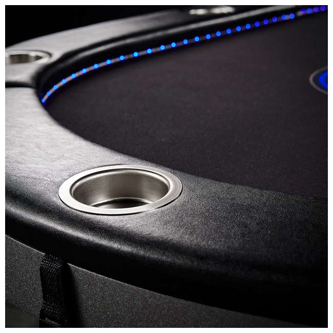 ARC084_017P Lancaster 10 Player Poker Game Table with Cup Holders, LED lights 5