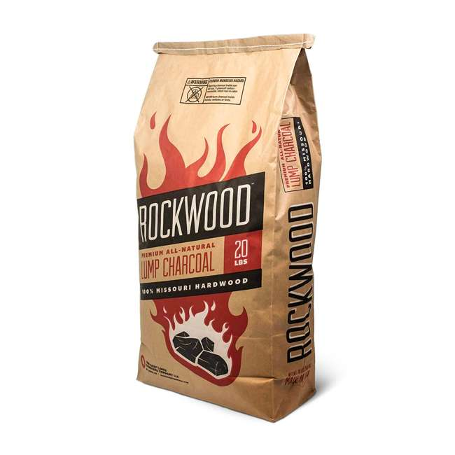 RW20 Rockwood All Natural Hardwood Grill or Smoker Lump Charcoal Mix, 20 Pound Bag