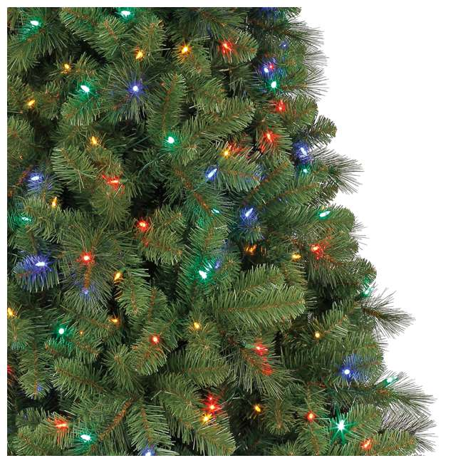 TG70M3W92D00 + GX1623U22F23 Home Heritage 7 Foot Artificial Cascade Pine Christmas Tree with Rotating Stand 6
