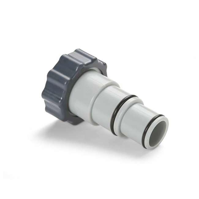 26647EG + 25007 Intex Pool Sand Filter Pump w/Threaded Hose Adapter (Pair) 9