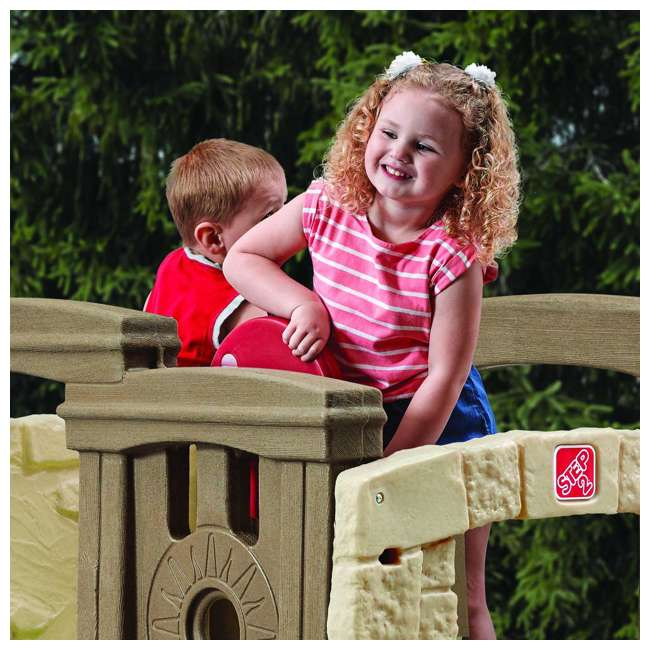 4902KR Step2 Naturally Playful Woodland Climber II Outdoor Activity Center with Slide 4