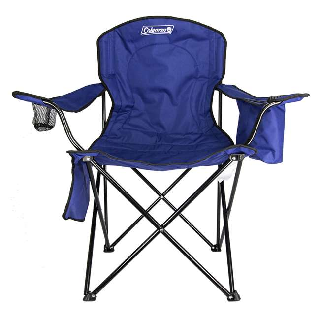 2000032009 + 2 x 2000032008 Coleman Folding Chair w/ Cooler & Cup Holder, Red & Blue (4 Pack) 10