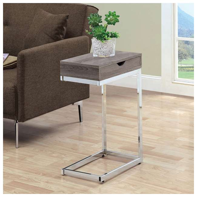 VM-3254 Monarch Specialties Accent End Table with a Drawer 2