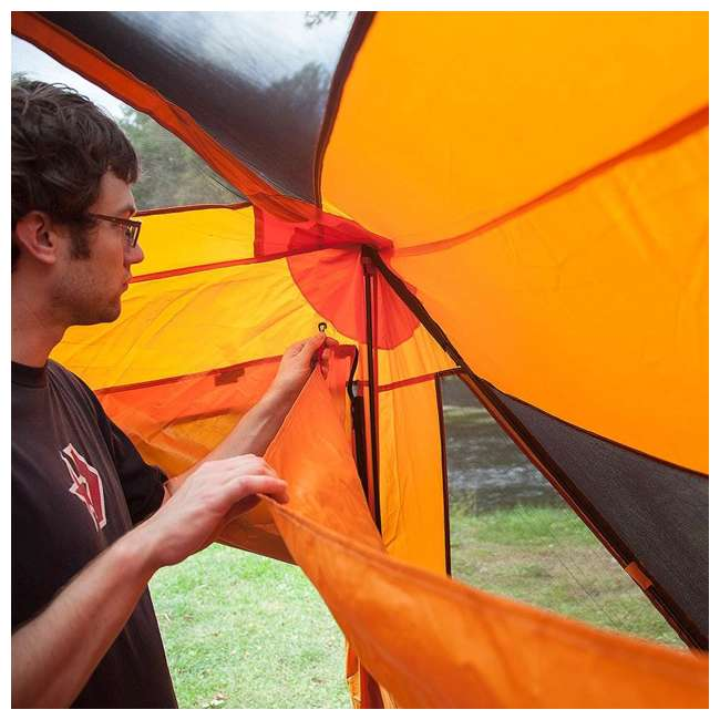 GAZL-26800-U-B Gazelle Tents T4 Plus Outdoor Pop Up 8 Person Hub Tent with Screen Room, Orange 6