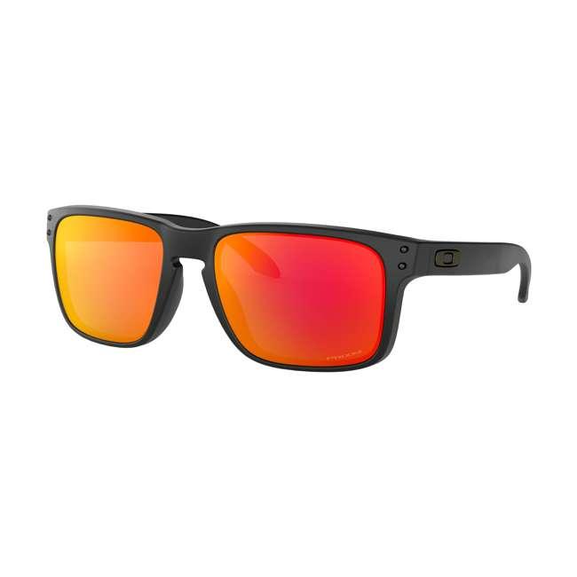 OO9102-E255 Oakley OO9102-E255 Standard Fit Holbrook Sunglasses, Matte Black/Prizm Ruby
