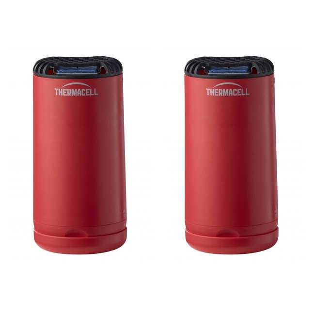 MRPSR Thermacell Outdoor Patio Camping Shield Mosquito Insect Repeller, Red (2 Pack)