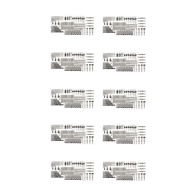 10 x PM-1250 Bora Tool 96-Piece Drill Bit Set (10 Pack)