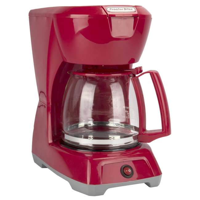 43603 Proctor Silex 43603 12-Cup Coffee Maker | Red 1