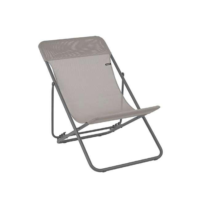 LFM2502-8556 Lafuma 2 Maxi Transat Folding Sling Chair Set, Terre 1