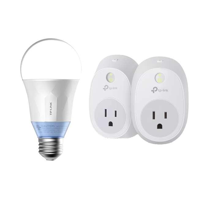 TP-Link Smart Plug Voice Control Kit, 2 Pack & LED Bulb