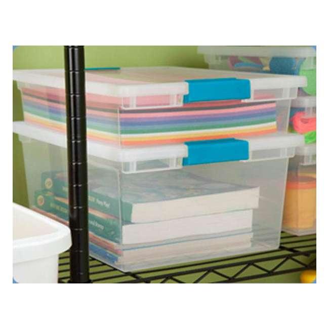 32 x 19658604-U-A Sterilite Deep File Clip Clear Storage Tote Container w/ Lid (Open Box)(32 Pack) 1