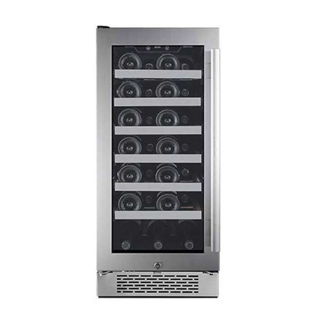AWC151SZLH + AWC151SZRH Avallon 15 Inch Left & Right 27 Bottle Dual Zone Wine Cooler, Stainless Steel 1