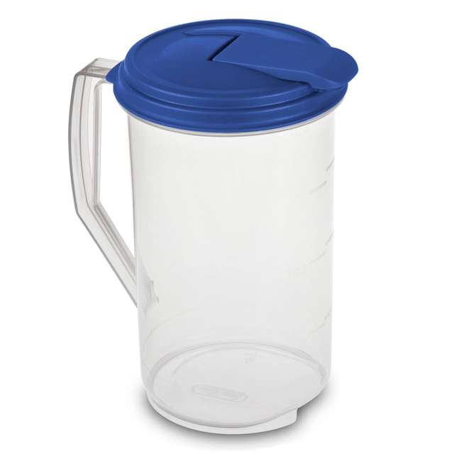 18 x 04860906-U-A Sterilite 2 Quart Round Plastic Hinged Pitcher (Open Box) (18 Pack) 1