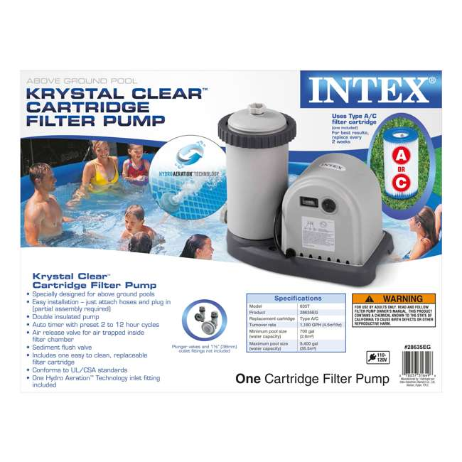 "28931T Intex 20' x 52"" Above-Ground Ultra Frame Pool Set with Pump 3"
