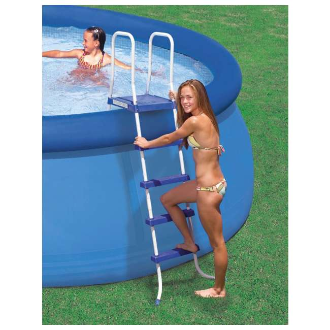 "I58975 INTEX 52"" Above Ground Swimming Pool Ladder with Steel Frame 58975E (Brown Box) 1"
