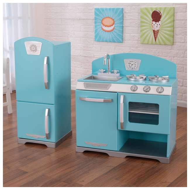 KidKraft Retro Kitchen & Refrigerator - Blue