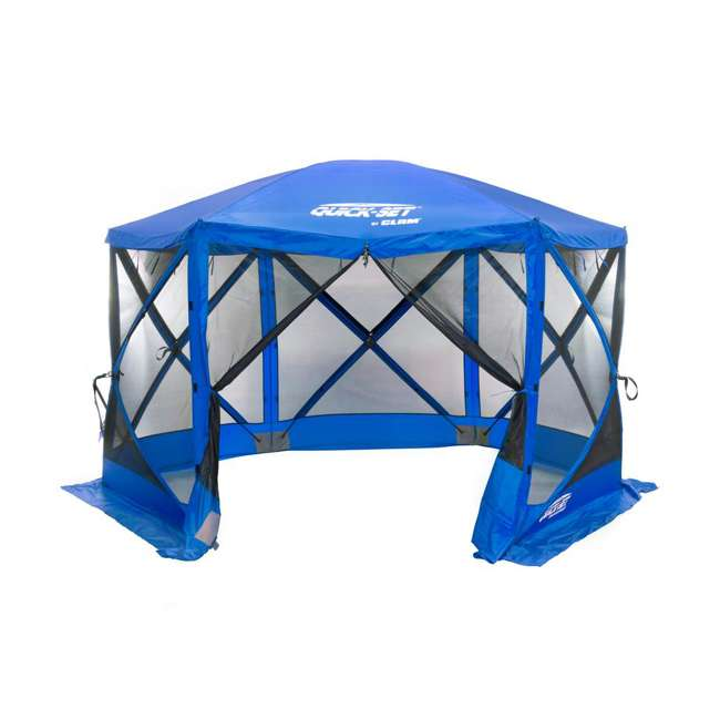 CLAM-ESS-14203 + CLAM-WP-ESS-14205 Clam Quick Set Tailgating Shelter + Wind & Sun Panels (3 pack) 1