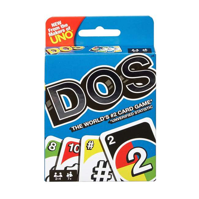 FRM36 Mattel UNO DOS Kids Multiplayer Card Game (2 Pack) 1