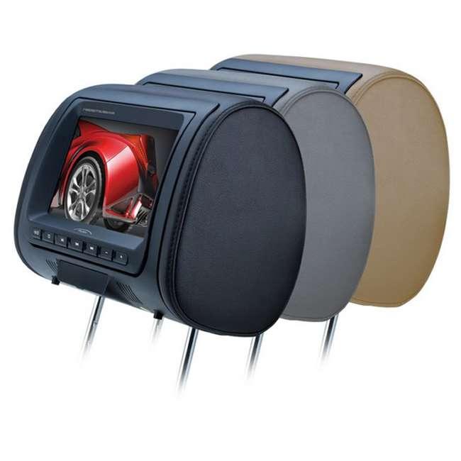 HIR8BGTM Boss Audio HIR8BGTM 8-Inch Tft Headrests Video Monitors with Black/Tan/Gray Skins (Pair) 3