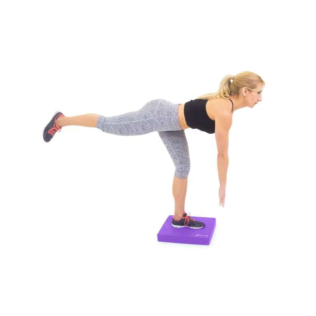 ps-1041-bp-l-purple Prosource Fit Foam Exercise Stability Physical Therapy Balance Pad Mat, Purple 2