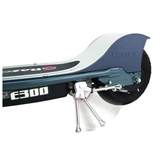 13113614 + 97778 + 96785 Razor E300 Electric Scooter (Grey) with Helmet, Elbow and Knee Pads 7