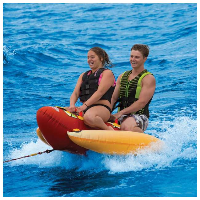 3 x 53-3055 Sportsstuff Hot Dog 2 Person Towable Tube (3 Pack) 2