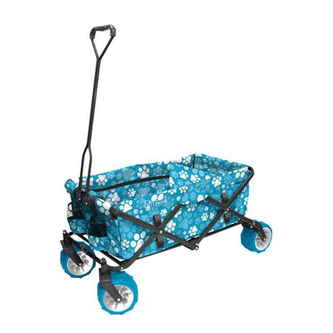 900255 Creative Outdoor All-Terrain Folding Wagon, Blue Paw Print