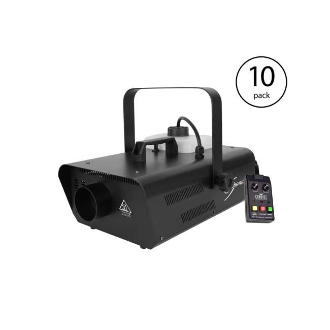 10 x H1302 Chauvet DJ Hurricane Fog Machine w/ Remote (10 Pack)